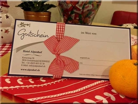 Bild von Gutschein für Hotel und Restaurant CHF 100.-