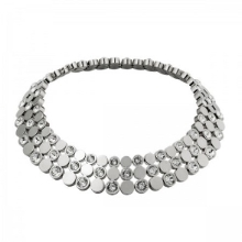 TRIPLE FASCINATION NECKLACE (SILVER)