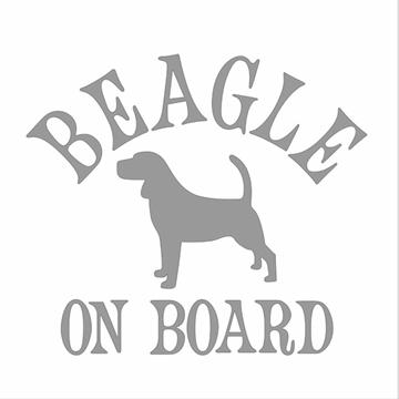 Bild von Aufkleber Beagle on board